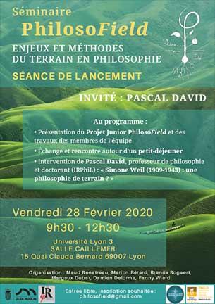Séminaire PhilosoField - 28 février 2020